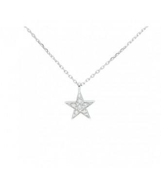 Gargantilla colgante estrella diamantes